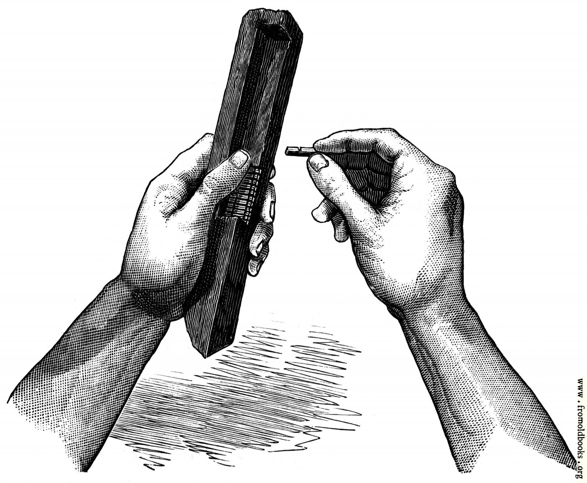 [Picture: Fifteenth Century Wooden Composing Stick]
