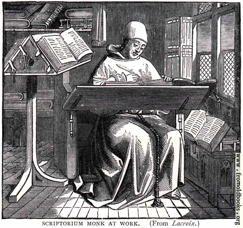 [Picture: Scriptorium Monk at Work]