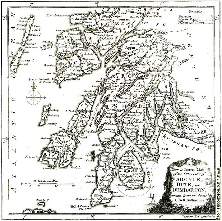 [Picture: A New & Correct MAP of the Counties of Argyle, Bute and Dumbarton]