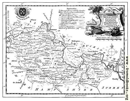 [Picture: Antique Eighteenth-Century Map of Berkshire]