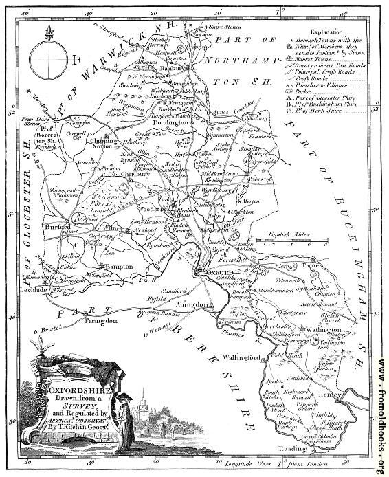 [Picture: Antique Eighteenth-Century Map of Oxfordshire]