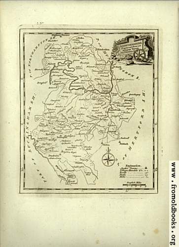 [Picture: Antique Map of Bedfordshire]