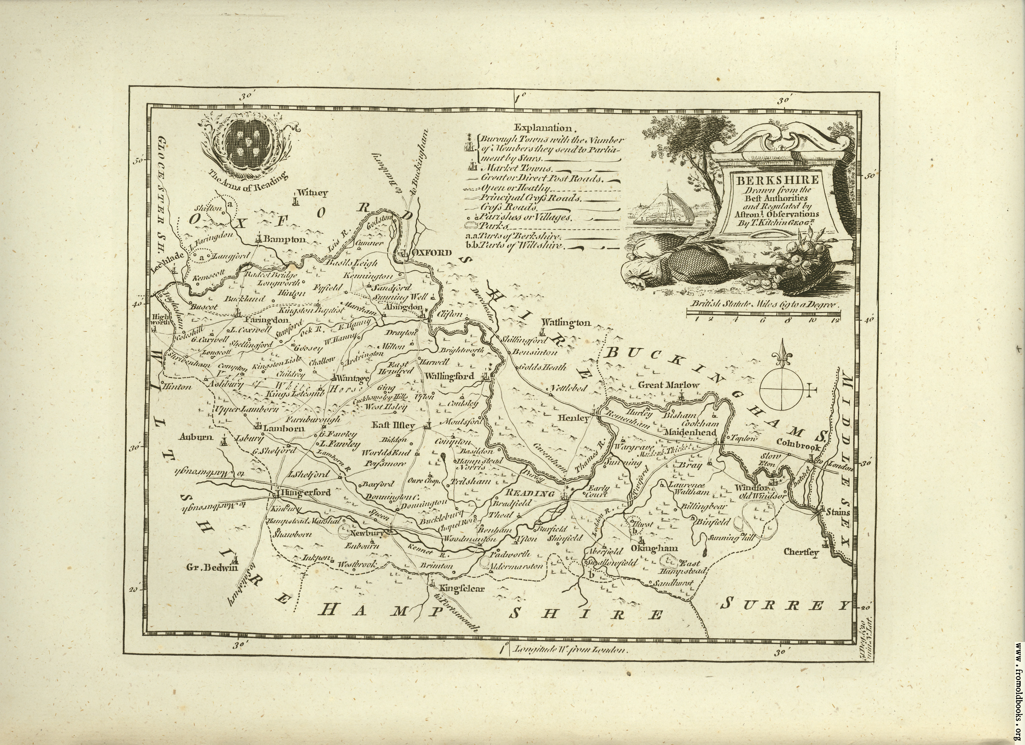 [Picture: Antique Map of Berkshire]
