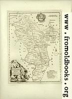 [Picture: Antique Map of Derbyshire]