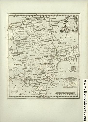 [Picture: Antique Map of Devonshire]