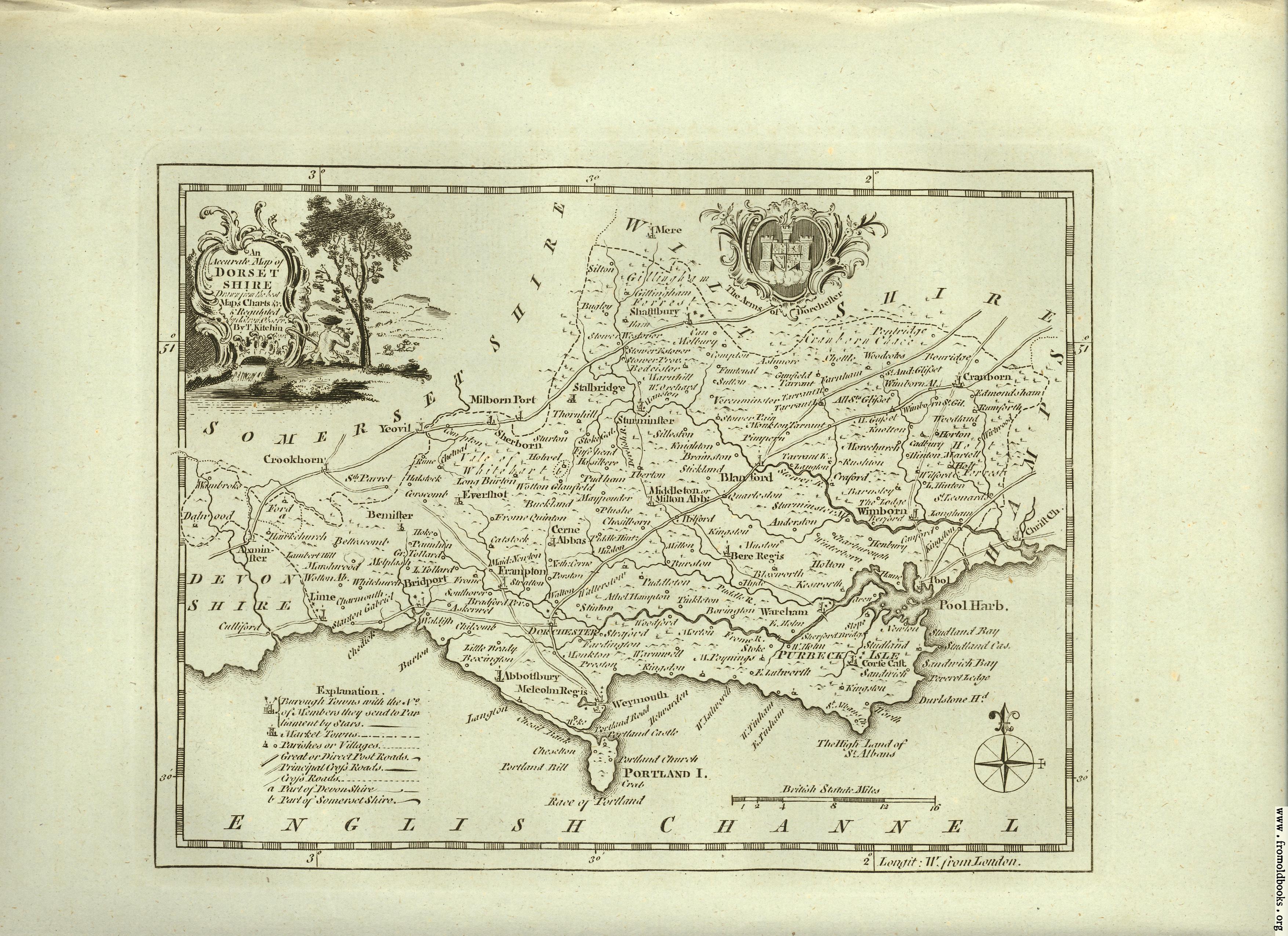 [Picture: Antique Map of Dorsetshire]