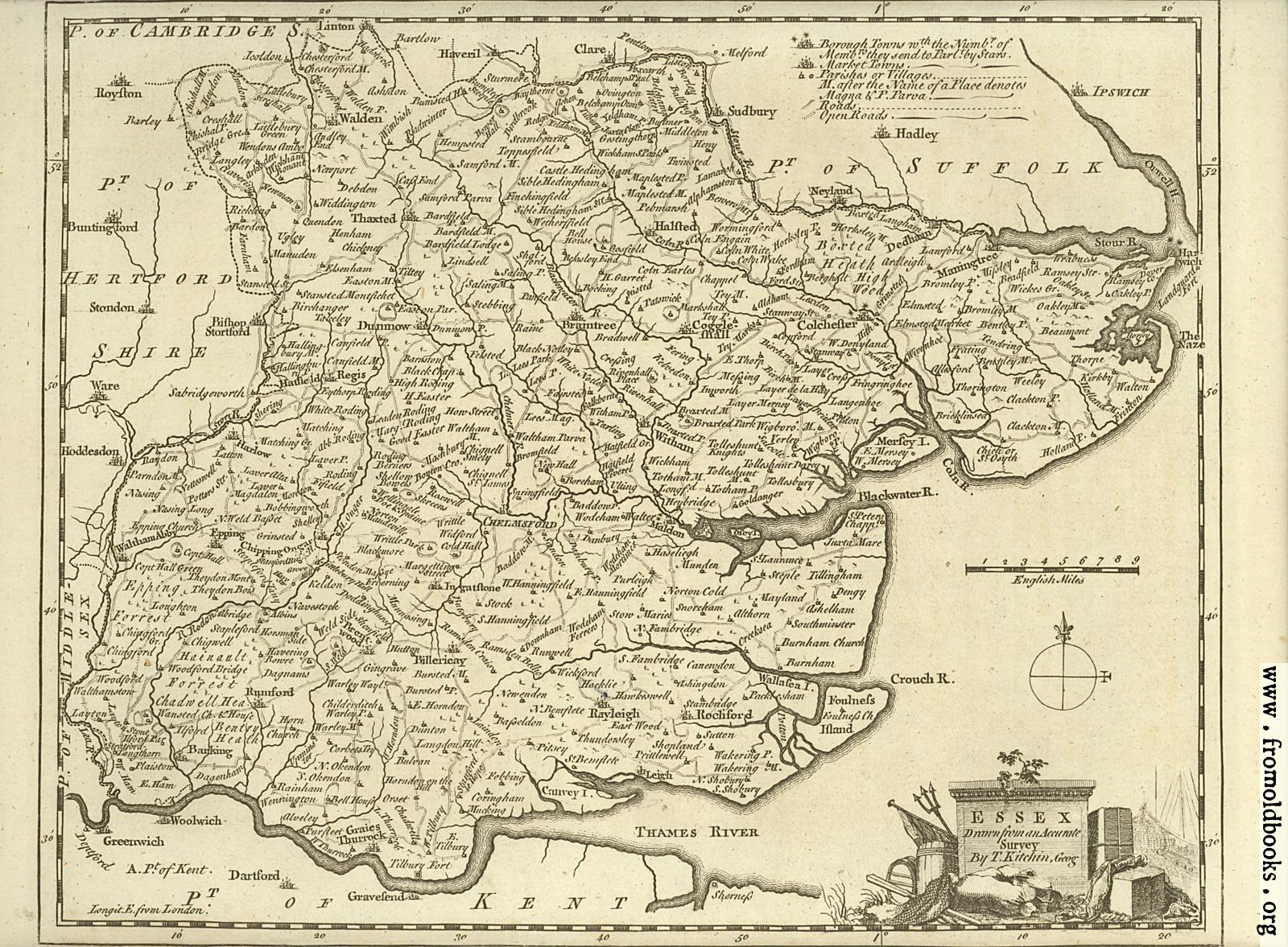 [Picture: Antique Map of Essex]