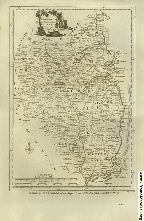 [Picture: Antique Map of Leinster]