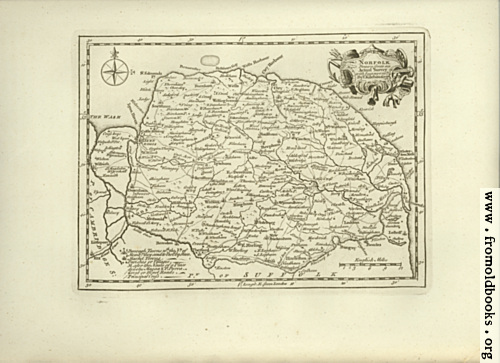 [Picture: Antique Map of Norfolk]