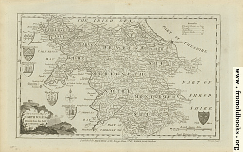 [Picture: Antique Map of North Wales]