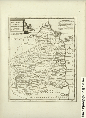 [Picture: Antique Map of Northumberland]