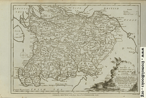 [Picture: Antique Map of the Southern Part of Scotland]