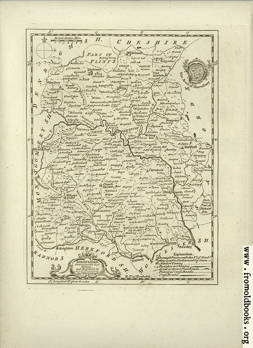 [Picture: Antique Map of Shropshire]