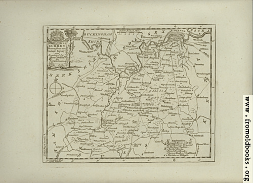 [Picture: Antique Map of Surrey]