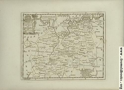 [Picture: Antique Map of Surrey]