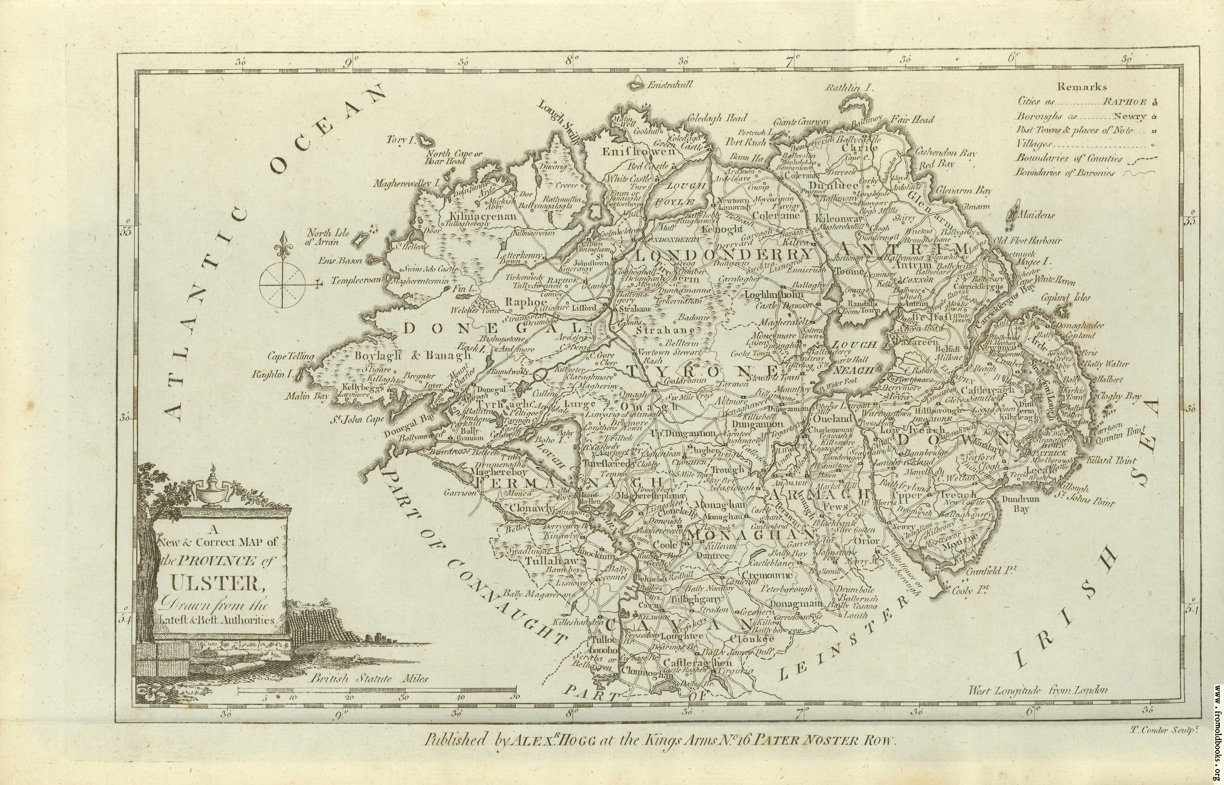 [Picture: Antique Map of Ulster]