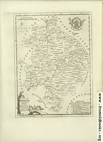 [Picture: Antique Map of Warwickshire]