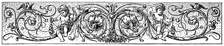 [Picture: Chapter-head with cherubs, flowers, cines and birds]