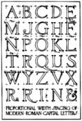 [Picture: 3.—Width Proportions of Modern Roman Capitals.]