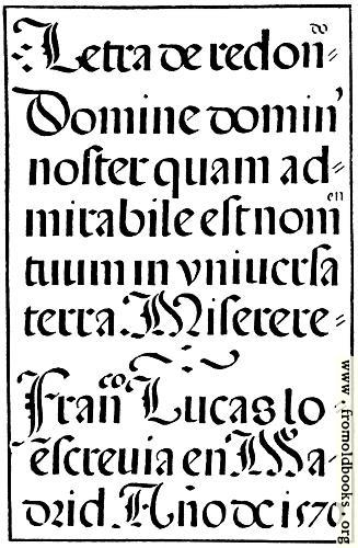 [Picture: 143.—Spanish Round Gothic Letters.  Francisco Lucas, 1577]