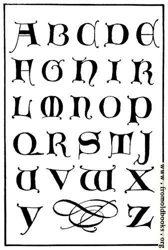 [Picture: 156.—Uncial Gothic Capitals. 14th Century.]