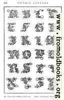 [Picture: 166.—Italian Gothic Initials, Giov. Palatino, 16th Century.]