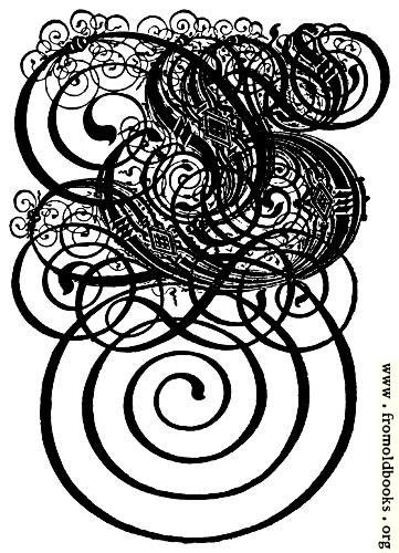 [Picture: German Gothic Initials - Swirly Fraktur Blackletter Initial Letter G]