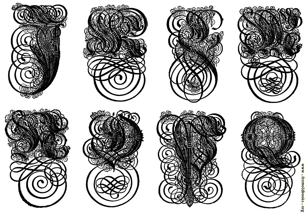 [Picture: 168.—German Gothic Initials (J to Q)]