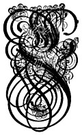 [Picture: German Gothic Initials - Swirly Fraktur Blackletter Initial Letter L]