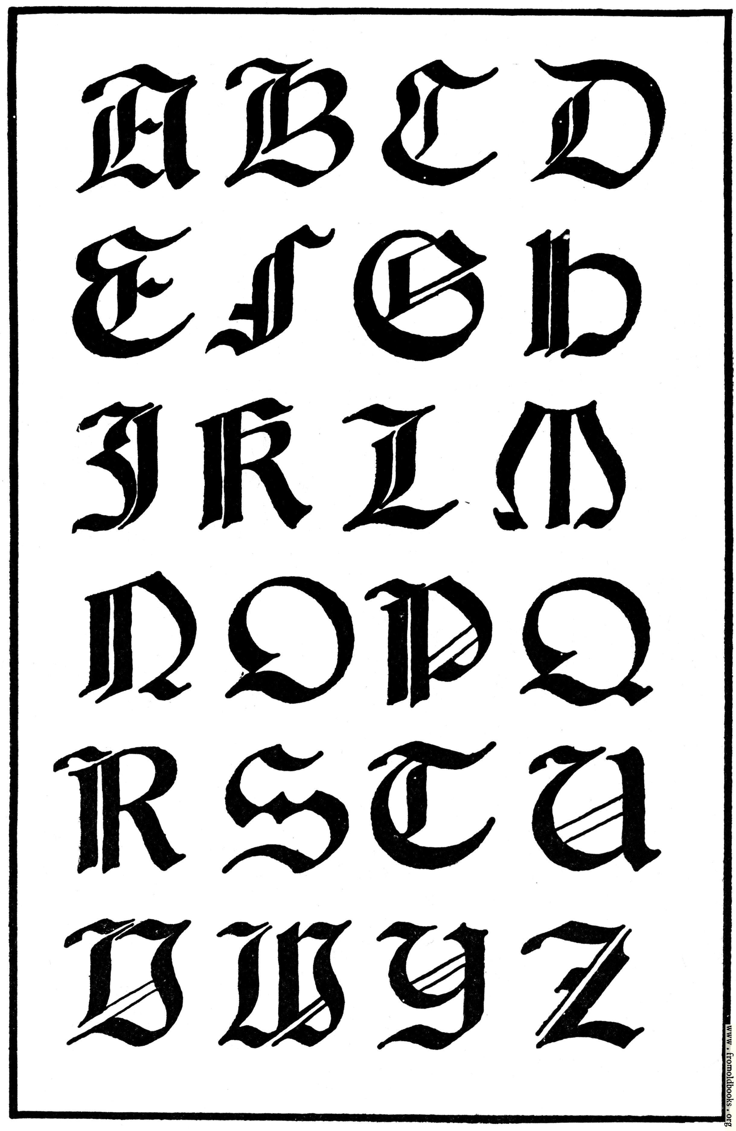 The design of the fonts tattoo 2011