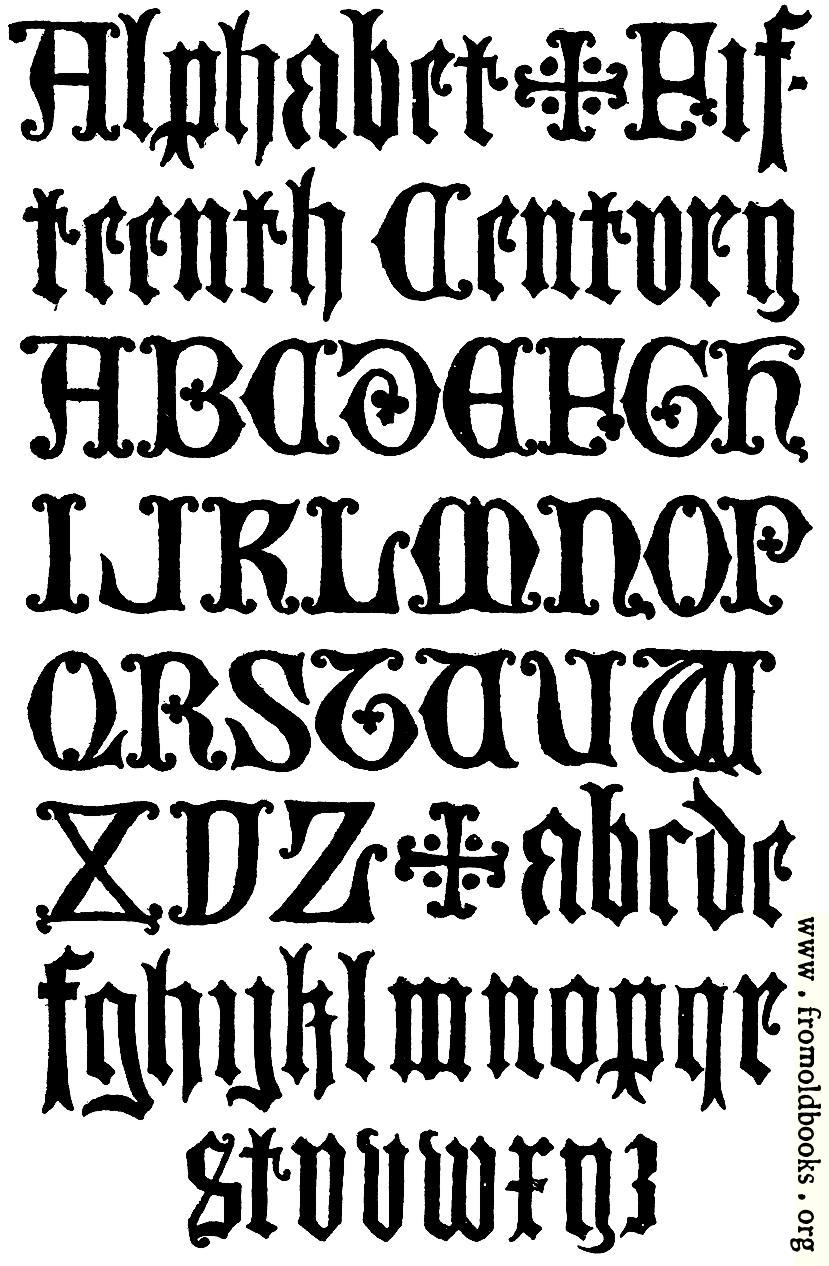 [Picture: 178.– English Gothic Letters.  15th Century.  F.C.B.]