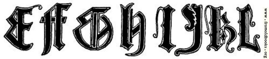 [Picture: E, F, G, H, I, J, K, L from English Gothic Letters 15th Century]