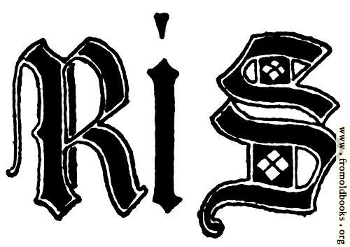 [Picture: Letters R and S from English gothic Letters, 15th Century]