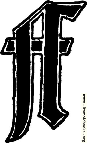 "[Picture: Calligraphic letter ""F"" in 15th century gothic style]"