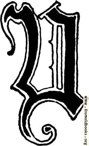 "[Picture: Calligraphic letter ""Y"" in 15th century gothic style]"
