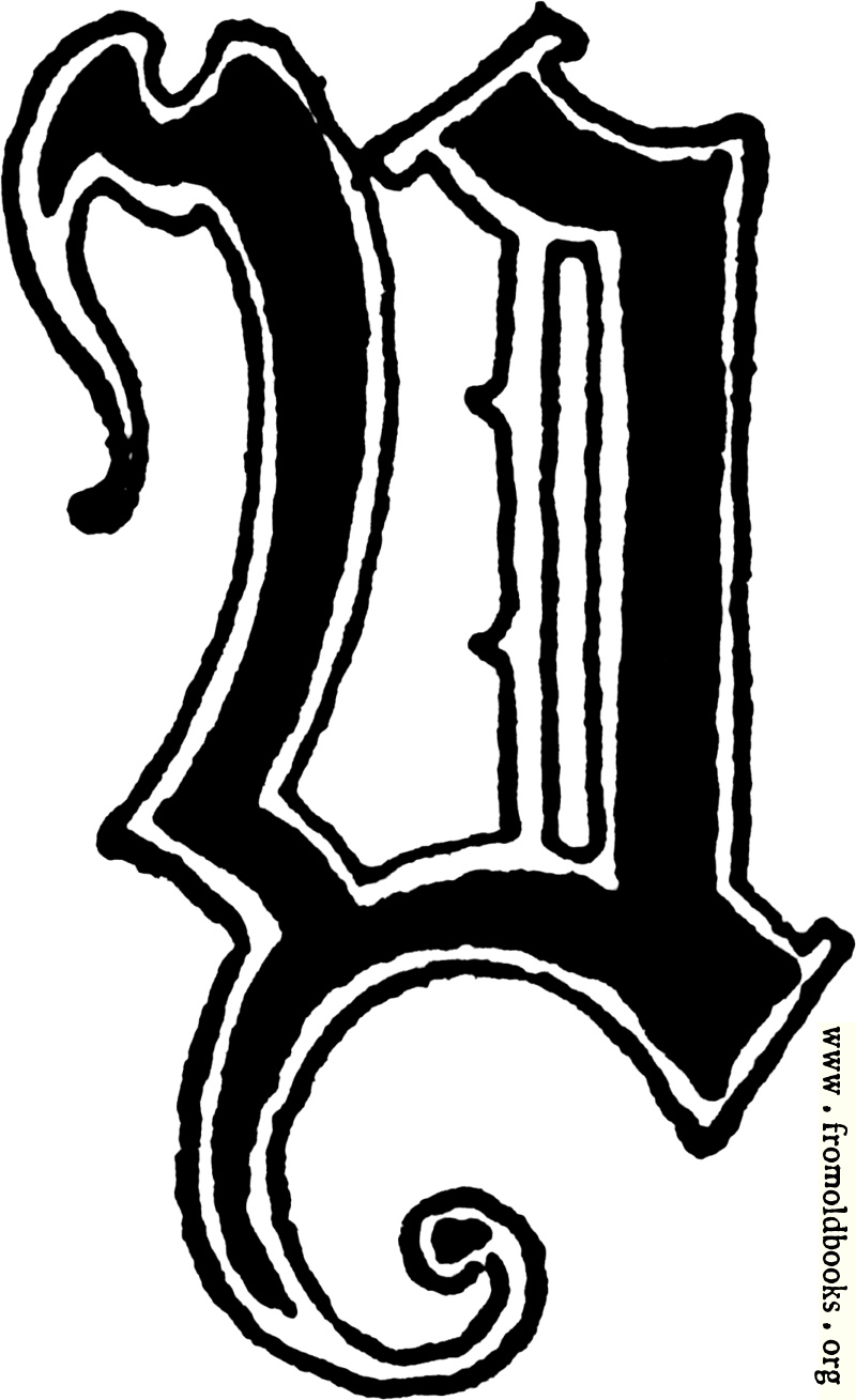 """[Picture: Calligraphic letter """"Y"""" in 15th century gothic style]"""