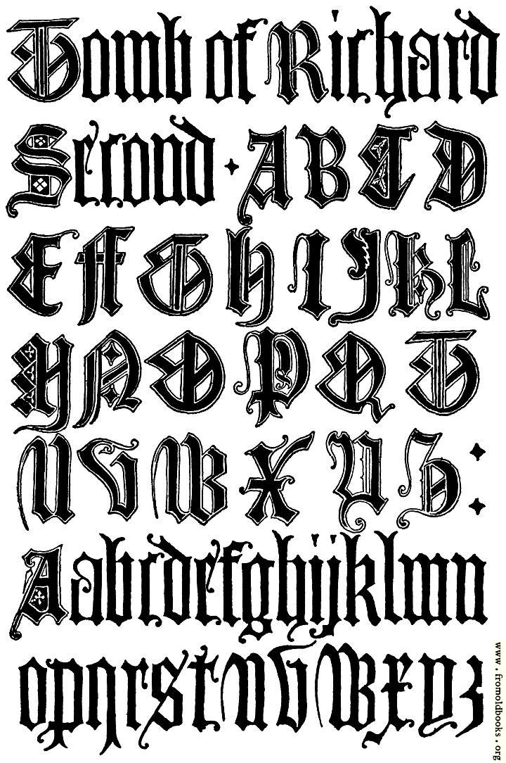 —english gothic letters th century f c b