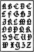 171.—English Gothic Capitals. 16th Century.