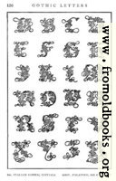 [picture: 166.---Italian Gothic Initials, Giov. Palatino, 16th Century.]