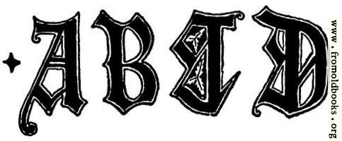 [picture: A, B, C, D from English Gothic Letters 15th Century]
