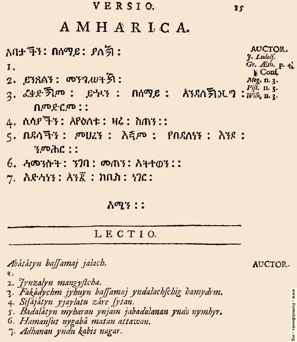 [Picture: 15: Amharica]