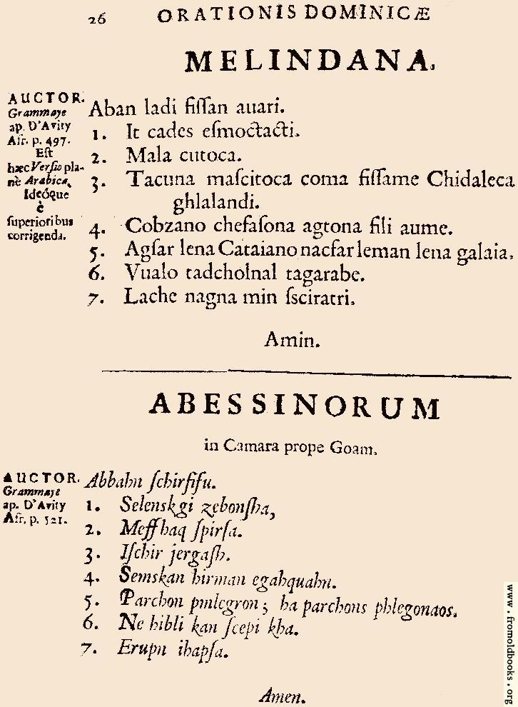 [Picture: 26: Melindana, Abessinorum]