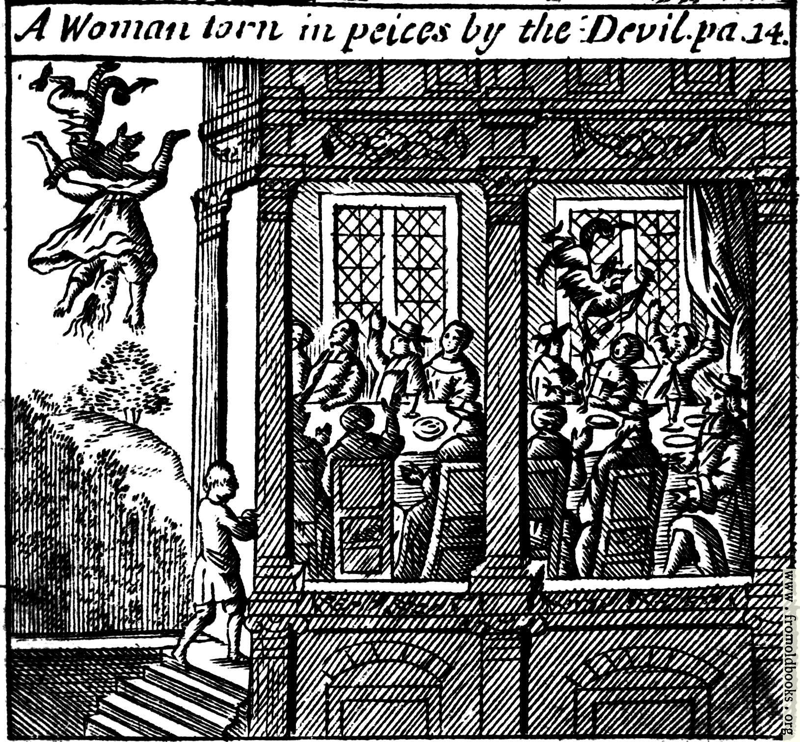 [Picture: A Woman torn in pieces by the Devil. pa. 14.]
