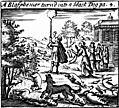 [picture: A Blasphemer turned into a black dog]