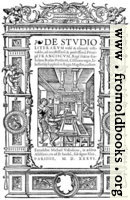 [Picture: 8.—Title Page from De Studio Literarum (1536)]