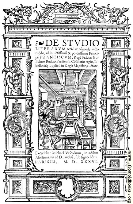 [Picture: 8.—Title Page from De Studio Literarum (1536)]