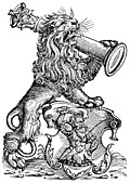 [Picture: 68a.—Myller Book Mark - Lion With Pillar]