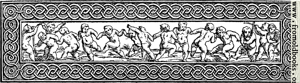 [Picture: Chapter head: cherubs playing games]