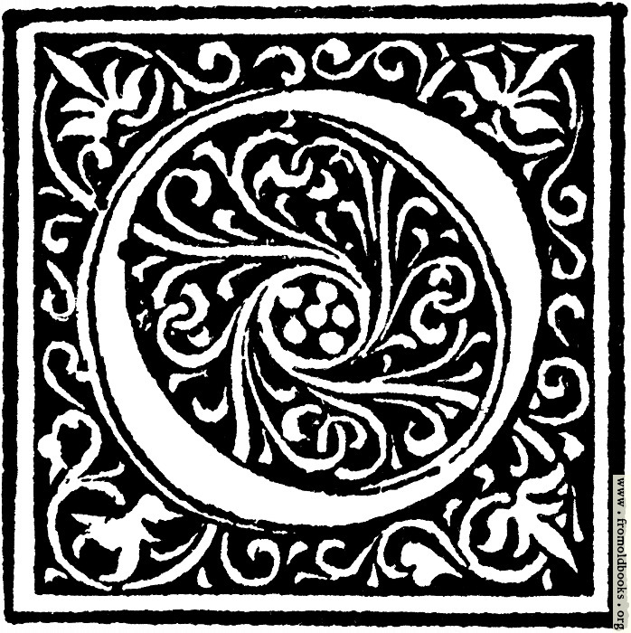 "[Picture: Foliated Decorative Capital Letter ""O""]"