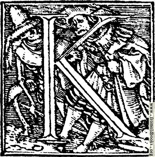"[Picture: 62k.—Initial capital letter ""K"" from Dance of Death Alphabet.]"